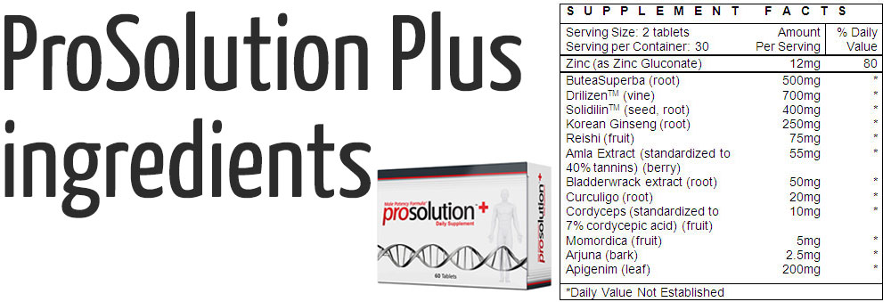 prosulotion plus ingredients