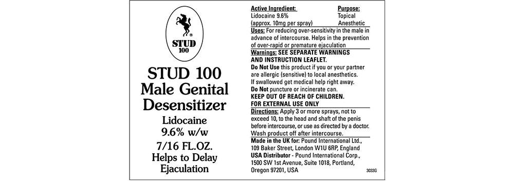 stud100 ingredients label