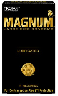 Tojan Magnum Condoms are perfered by men with larger than average penis size
