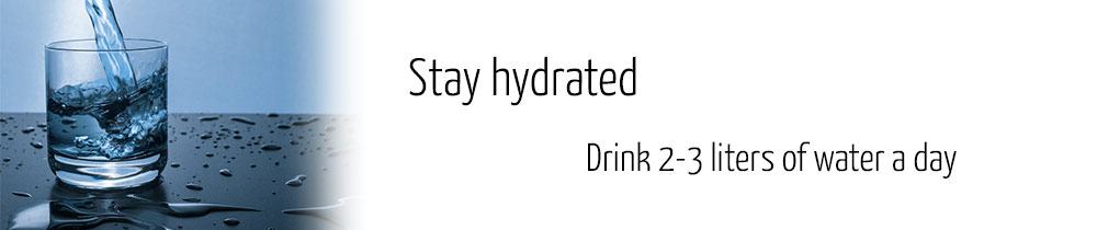 stay hydrated for optimal sperm production